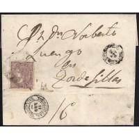 ZAMORA. 1869. ESPAÑA. SPAIN. 50 MILS. ED. 98. BENAVENTE A TORDESILLAS.