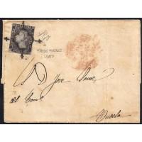 ZARAGOZA. 1850. ESPAÑA. SPAIN. 6 CUARTOS. ED. 1A. ZARAGOZA A TUDELA.