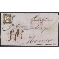 ZARAGOZA. 1850. ESPAÑA. SPAIN. 6 CUARTOS. ED. 1A. ZARAGOZA A MANRESA.