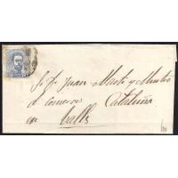 ZARAGOZA. 1873. ESPAÑA. SPAIN. 10 CTS. ED. 121. A VALLS.