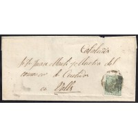 ZARAGOZA. 1873. ESPAÑA. SPAIN. 10 CTS. ED. 133. A VALLS.