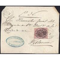 PALENCIA. 1863. ESPAÑA. SPAIN. 1 ONZA. ED. 36. ASTUDILLO A VALENCIA.