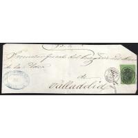 PALENCIA. 1864. ESPAÑA. SPAIN. 4 ONZAS. ED. 37. FRECHILLA A VALLADOLID.