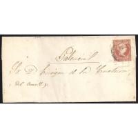 PALENCIA. 1858. ESPAÑA. SPAIN. 4 CUARTOS. ED. 48. HERRERA DEL RIO PISUERGA A PALENCIA.