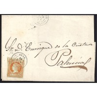 PALENCIA. 1860. ESPAÑA. SPAIN. 4 CUARTOS. ED. 52. ALAR DEL REY A PALENCIA.