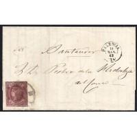 PALENCIA. 1863. ESPAÑA. SPAIN. 4 CUARTOS. ED. 58. PALENCIA A SANTANDER.
