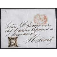 PONTEVEDRA. 1851. ESPAÑA. SPAIN. 6 CUARTOS. ED. 6. PONTEVEDRA A MADRID.