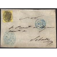 PONTEVEDRA. 1857. ESPAÑA. SPAIN. MEDIA ONZA. ED. 35. TUY A SETADOS.