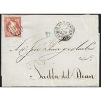 PONTEVEDRA. 1856. ESPAÑA. SPAIN. 4 CUARTOS. ED. 44. CARRIL A PUEBLA DEL DEAN.