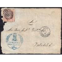 PONTEVEDRA. 1858. ESPAÑA. SPAIN. 4 CUARTOS. ED. 58. VIGO A VALLADOLID.