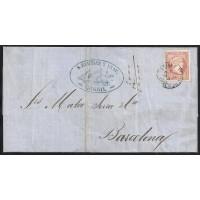 PONTEVEDRA. 1859. ESPAÑA. SPAIN. 4 CUARTOS. ED. 48. CARRIL A BARCELONA.