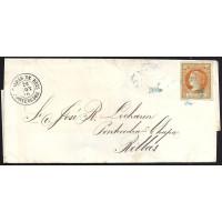 PONTEVEDRA. 1860. ESPAÑA. SPAIN. 4 CUARTOS. ED. 52. A RELLAS.