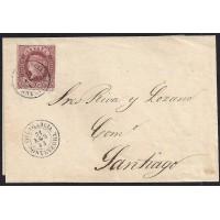 PONTEVEDRA. 1862. ESPAÑA. SPAIN. 4 CUARTOS. ED. 58. VILLAGARCIA A SANTIAGO.