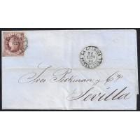 PONTEVEDRA. 1862. ESPAÑA. SPAIN. 4 CUARTOS. ED. 58. LA GUARDIA A SEVILLA.
