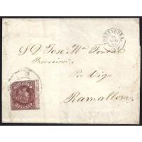 PONTEVEDRA. 1862. ESPAÑA. SPAIN. 4 CUARTOS. ED. 58. PONTEVEDRA A RAMALLOSA.