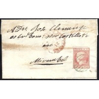 TERUEL. 1852. ESPAÑA. SPAIN. 6 CUARTOS. ED. 12. TERUEL A MIRAMBEL.