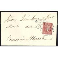TERUEL. 1859. ESPAÑA. SPAIN. 4 CUARTOS. ED. 48. MORA A ALBACETE.