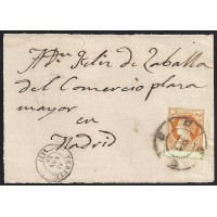 TERUEL 1860. ESPAÑA. SPAIN. 4 CUARTOS. ED. 52. TERUEL A MADRID.