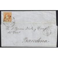 TERUEL. 1862. ESPAÑA. SPAIN. 4 CUARTOS. ED. 52. TERUEL A BARCELONA.