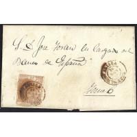 TERUEL. 1868. ESPAÑA. SPAIN. 50 MILS. ED. 96. ALIAGA A TERUEL.