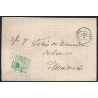 TERUEL. 1873. ESPAÑA. SPAIN. 10 CTS. ED. 133. TERUEL A MADRID.