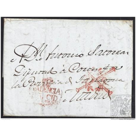 1838. ESPAÑA. SPAIN. BARCELONA A MADRID.