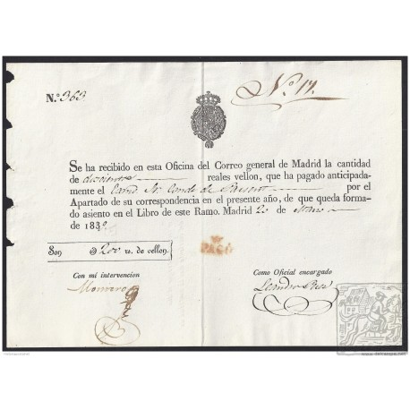 1839. ESPAÑA. SPAIN. MADRID.