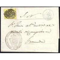 TOLEDO. 1856. ESPAÑA. SPAIN. MEDIA ONZA. ED. 35. TOLEDO A GRANADA.