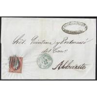 TOLEDO. 1856. ESPAÑA. SPAIN. 4 CUARTOS. ED. 40. QUINTANAR DE LA ORDEN A ALBACETE.