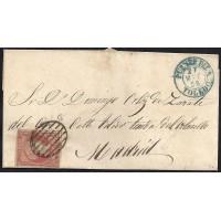 TOLEDO. 1856. ESPAÑA. SPAIN. 4 CUARTOS. ED. 40. PUENTE DEL ARZOBISPO A MADRID.