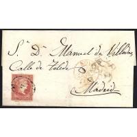 TOLEDO. 1856. ESPAÑA. SPAIN. 4 CUARTOS. ED. 44. NOVES A MADRID.
