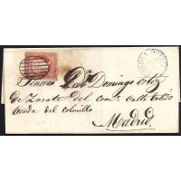 TOLEDO. 1857. ESPAÑA. SPAIN. 4 CUARTOS. ED. 44. PUENTE DEL ARZOBISPO A MADRID.