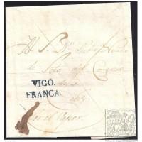 1838. ESPAÑA. SPAIN. BOUZAS A CADIZ.