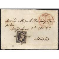 TOLEDO. 1851. ESPAÑA. SPAIN. 6 CUARTOS. ED. 6. OCAÑA A MADRID.