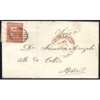 TOLEDO. 1852. ESPAÑA. SPAIN. 6 CUARTOS. ED. 12P. TALAVERA A MADRID.
