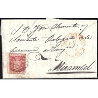 TERUEL. 1854. ESPAÑA. SPAIN. 6 CUARTOS. ED. 24. ALCAÑIZ A MIRAMBEL.