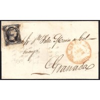 CORDOBA. 1851. ESPAÑA. SPAIN. 6 CUARTOS. ED. 6. CARPIO A GRANADA.