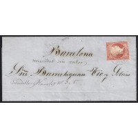 CORDOBA. 1856. ESPAÑA. SPAIN. 4 CUARTOS. ED. 48. PUENTE GENIL A BARCELONA.