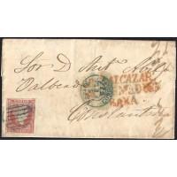 CORDOBA. 1857. ESPAÑA. SPAIN. 4 CUARTOS. ED. 48. BELALCAZAR A CONSTANTINA.