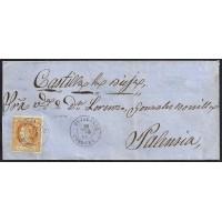 CORDOBA. 1861. ESPAÑA. SPAIN. 4 CUARTOS. ED. 52. BUJALANCE A PALENCIA.