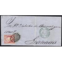 CORDOBA. 1857. ESPAÑA. SPAIN. 4 CUARTOS. ED. 48. CORDOBA A GRANADA.
