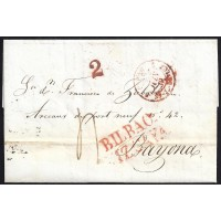 1839. ESPAÑA. SPAIN. BILBAO A BAYONA.