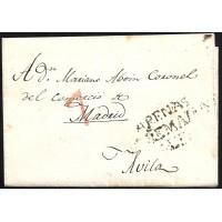 1840. ESPAÑA. SPAIN. ARENAS DE SAN PEDRO A AVILA.