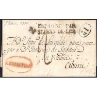1834. ESPAÑA. SPAIN. SAN SEBASTIAN A CIBURU.