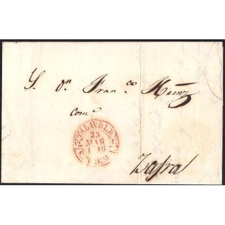 1846. ESPAÑA. SPAIN. TALAVERA DE LA REINA A ZAFRA.