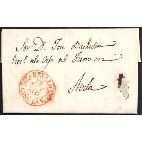 1847. ESPAÑA. SPAIN. AREVALO A AVILA.