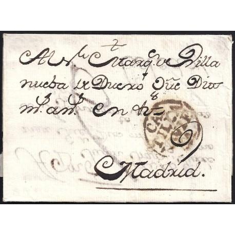 S/F. CIRCA 1795. ESPAÑA. SPAIN. AVILA A MADRID.