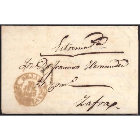 1845. ESPAÑA. SPAIN. BEJAR A ZAFRA.