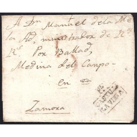 S/F. CIRCA 1820. ESPAÑA. SPAIN. PEÑAFIEL A ZAMORA.