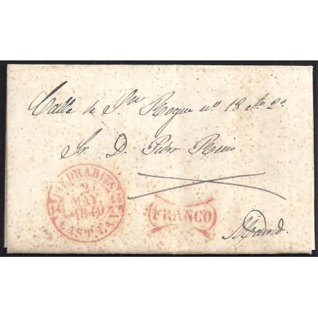 1849. ESPAÑA. SPAIN. PIEDRAHITA A MADRID.